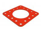 """תמונה של מוצר פלטה שטוחה 5x5 עם חור בקוטר 39 מ""""מ"""