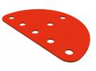"""תמונה של מוצר פלטה שטוחה חצי עיגול בקוטר 63 מ""""מ"""