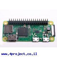 כרטיס פיתוח - Raspberry Pi Zero W (עם מחבר)