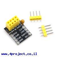 מתאם מודול WiFi ESP8266 דגם ESP-01S למטריצה
