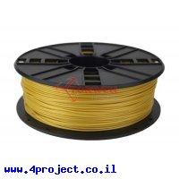 פלסטיק למדפסת תלת-מימד - זהב בהיר - PLA 1.75mm