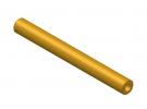 """תמונה של מוצר צינור חלול מפליז 4.1/8 מ""""מ - אורך 75 מ""""מ"""