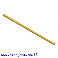 """צינור חלול מפליז 4.1/8 מ""""מ - אורך 300 מ""""מ"""
