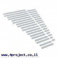 פס מחורר מעוגל מאלומיניום goBILDA סדרה 1119 - ערכה של 17 גדלים