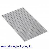 """לוח מחורר 8x8, מידות 136x232 מ""""מ, 17x29 חורים, אלומיניום"""