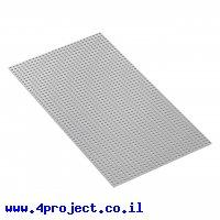 """לוח מחורר 8x8, מידות 232x424 מ""""מ, 29x53 חורים, אלומיניום"""