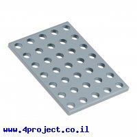 """לוח מחורר 8x8, מידות 40x56 מ""""מ, 5x7 חורים, פלדה - 2 יחידות"""