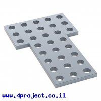 לוח מחורר 8x8, צורת L דגם 2-1, פלדה - 2 יחידות