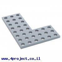 לוח מחורר 8x8, צורת L דגם 1-1, פלדה - 2 יחידות