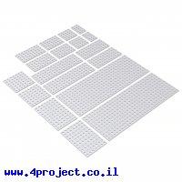 לוח מחורר 8x8 מאלומיניום goBILDA סדרה 1116 - ערכה של 9 גדלים