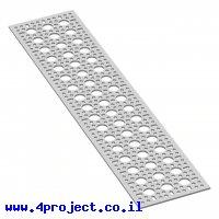 """לוח מחורר תבנית goBILDA,  מידות 96x432 מ""""מ, 3x17 חורים, אלומיניום"""