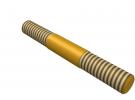 """תמונה של מוצר מוט הברגה M4 עם מרווח - אורך 30 מ""""מ"""