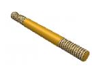 """תמונה של מוצר מוט הברגה M4 עם מרווח - אורך 40 מ""""מ"""