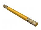 """תמונה של מוצר מוט הברגה M4 עם מרווח - אורך 70 מ""""מ"""