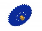תמונה של מוצר גלגל שיניים לשרשרת שלבים מקופלים - 37 שיניים