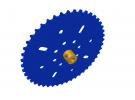 תמונה של מוצר גלגל שיניים לשרשרת שלבים מקופלים - 46 שיניים