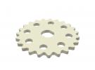 תמונה של מוצר גלגל שיניים לשרשרת שלבים מקופלים, פלסטיק - 23 שיניים