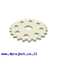 גלגל שיניים לשרשרת שלבים מקופלים, פלסטיק - 23 שיניים