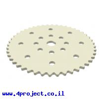 גלגל שיניים לשרשרת שלבים מקופלים, פלסטיק - 46 שיניים