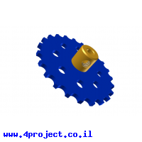 """גלגל שיניים לשרשרת 6x2.8 מ""""מ - 23 שיניים"""