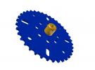 """תמונה של מוצר גלגל שיניים לשרשרת 6x2.8 מ""""מ - 37 שיניים"""