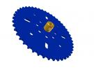 """תמונה של מוצר גלגל שיניים לשרשרת 6x2.8 מ""""מ - 46 שיניים"""