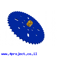 """גלגל שיניים לשרשרת 6x2.8 מ""""מ - 46 שיניים"""