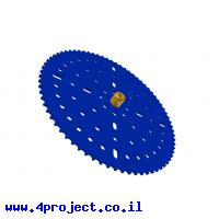 """גלגל שיניים לשרשרת 6x2.8 מ""""מ - 73 שיניים"""