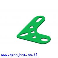 תומך זוית 3x3 חורים ירוק