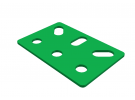 תמונה של מוצר תומך מלבני 3x2 חורים ירוק
