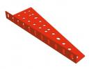 תמונה של מוצר תומך גלגלי שיניים טרפז 40 חורים - קיפול שמאלי