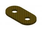 תמונה של מוצר פס מחורר מבודד - 2 חורים