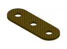 תמונה של מוצר פס מחורר מבודד - 3 חורים