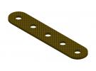 תמונה של מוצר פס מחורר מבודד - 5 חורים