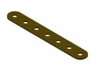 תמונה של מוצר פס מחורר מבודד - 7 חורים