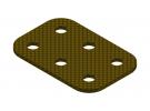 תמונה של מוצר פלטה שטוחה מבודדת 2x3