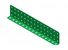 """תמונה של מוצר קורת זווית """"L"""" כפול באורך 15 חורים"""