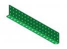 """תמונה של מוצר קורת זווית """"L"""" כפול באורך 17 חורים"""