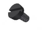 תמונה של מוצר בורג חריץ ראש שטוח M4x6mm - שחור