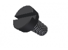תמונה של מוצר בורג חריץ ראש שטוח M4x45mm - שחור