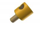 """תמונה של מוצר חיבור לציר 4 מ""""מ - חור 1 - ללא הברגה פנימית, עם מוט הברגה בולט"""