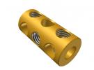 """תמונה של מוצר חיבור לציר 4 מ""""מ - 3 חורים - ללא הברגה פנימית"""