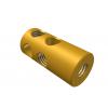 """תמונה של מוצר חיבור לציר 4 מ""""מ - 2 חורים - עם הברגה פנימית חלקית"""