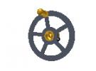 """תמונה של מוצר גלגל יד 39 מ""""מ עם רכזת וידית"""