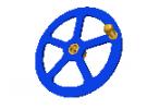 """תמונה של מוצר גלגל יד 63 מ""""מ עם רכזת וידית"""