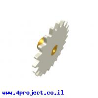 גלגל שיניים רב שימושי 21 שיניים - יחיד עם רכזת
