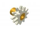 תמונה של מוצר גלגל שיניים רב שימושי 10 שיניים - כפול עם רכזת