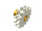 תמונה של מוצר גלגל שיניים רב שימושי 14 שיניים - כפול עם רכזת
