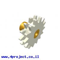 גלגל שיניים רב שימושי 14 שיניים - כפול עם רכזת