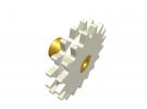 תמונה של מוצר גלגל שיניים רב שימושי 17 שיניים - כפול עם רכזת